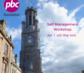 Self Management Workshop | Ayr | 11th May 2016