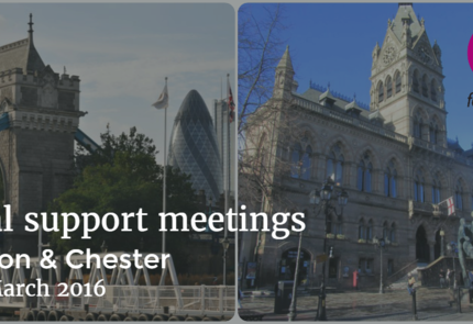 Meetings in London and Chester | 19th March 2016